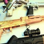 A golden AK-47 found in Honduras