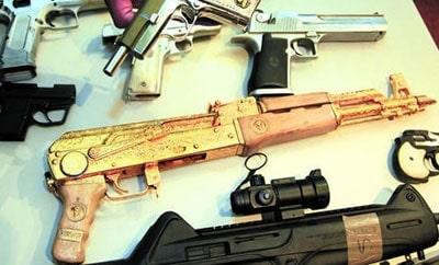A golden AK-47 found in Honduras