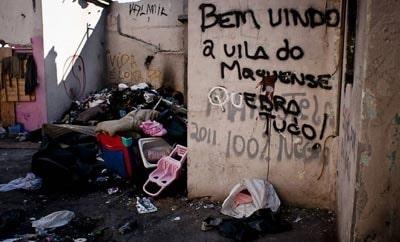 A police raid on a Sao Paulo