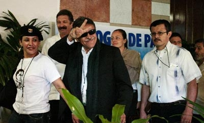 Members of FARC negotiation team in Cuba