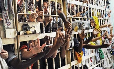 Brazil's prisons were at 166 percent capacity in 2011
