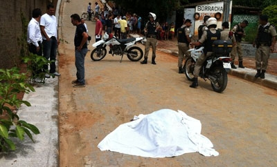 A homicide scene in Minas Gerais
