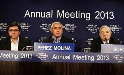 President Perez at the World Economic Forum 2013