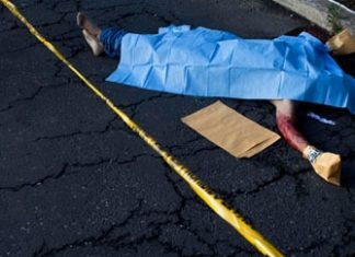 Homicide scene in Guatemala