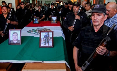Funeral of Michoacan police officers