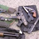 "Weapons seized from Colombian ""hitman ring"""
