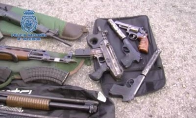 Weapons seized from Colombian