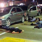 Crime scene in San Pedro Sula, Honduras