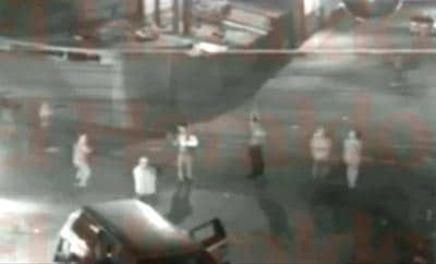 Still from a video of a killing in Honduras