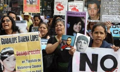 Protesters demand rights for Mexico's crime victims