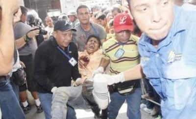 A scene from the Uribana riot in Venezuela