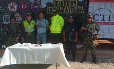 Colombia's security forces tout the capture of alias