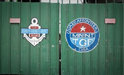 The insignia of Cuba's border patrol