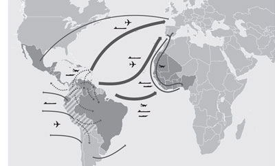 Real Institute Elcano's map* of Europe's drug trade