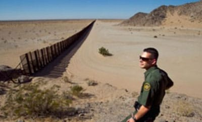 An Arizona section of the US-Mexico border fence