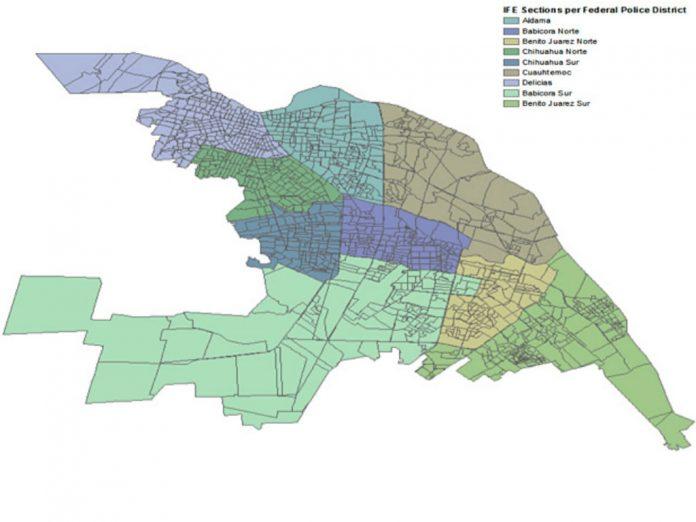 A map from Muggah and Vilalta's study on Ciudad Juarez