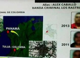 "Captured Rastrojos leader ""Alex Caballo"""