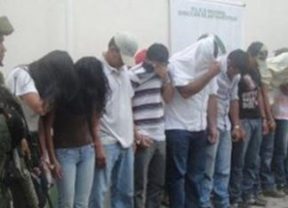 Captured members of Colombian neo-paramilitary groups