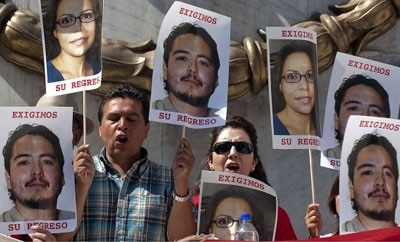 Photos of disappeared journalists in Mexico