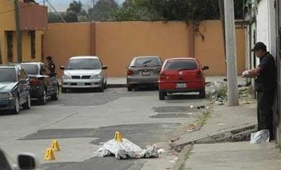 A murder scene in Guatemala City