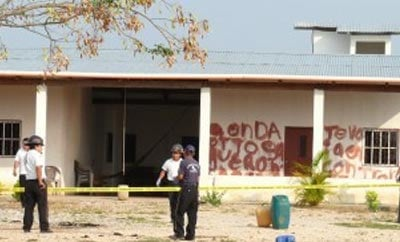 Site of the 2011 massacre in Peten, Guatemala