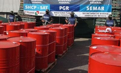 A precursor chemical seizure in Mexico