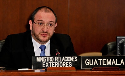 Luis Fernando Carrera, Guatemala's Minister of Foreign Affairs