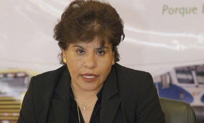Marlene Arday, president of Bolivian Customs Agency