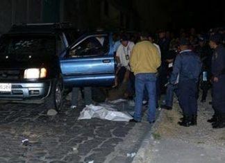 Murder scene of lawyer Marlon Saul Cerrato Gomez