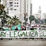 A pro-marijuana legalization march in Uruguay