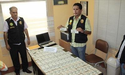 Counterfeit dollars seized in Peru