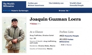 Chapo Guzman's entry on the Forbes website