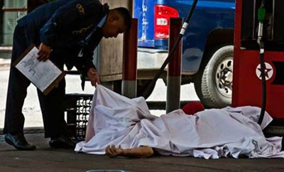 A homicide scene in Venezuela