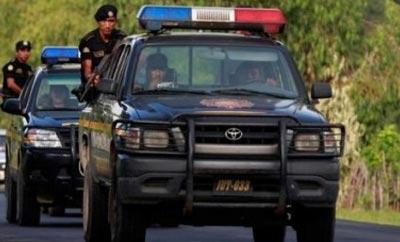 Police patrol cars in Guatemala