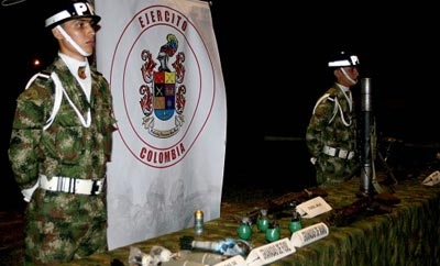 Goods seized in operation against FARC militia
