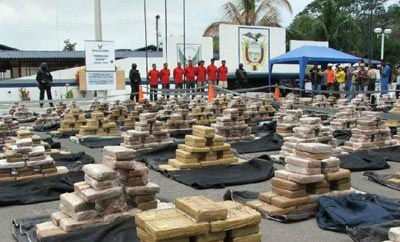 A cocaine shipment seized in Ecuador