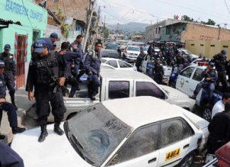 Honduran police on strike last week
