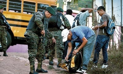 Troops on the streets of Honduras