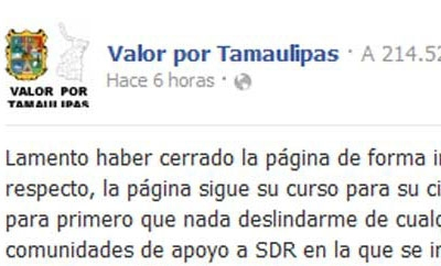 The Valor x Tamaulipas administrator's statement