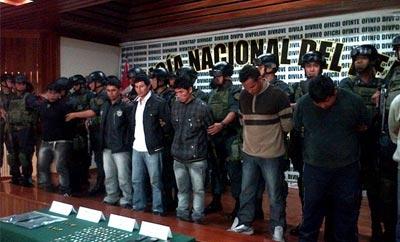 Suspects in land theft gang 'Los Sanguinarios'