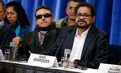 FARC peace negotiators in Havana