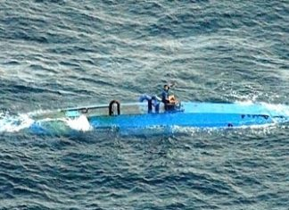 "A ""narco-sub"" intercepted by the Coast Guard"