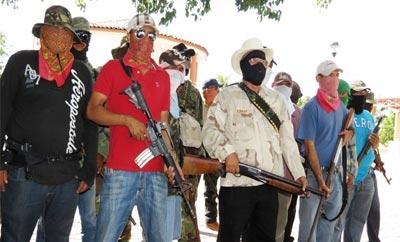 Vigilantes in Michoacan, Mexico