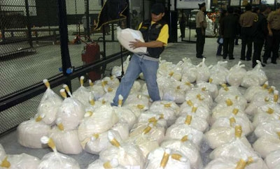 Cocaine seizure in Peru.
