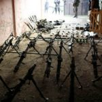 Weapons seized in a military raid in Guatemala