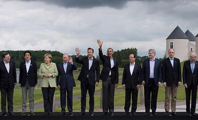 Leaders of the G8 countries at the 2013 summit