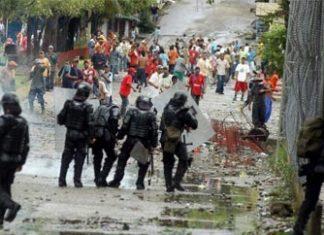 Protesters clash with police in Norte de Santander