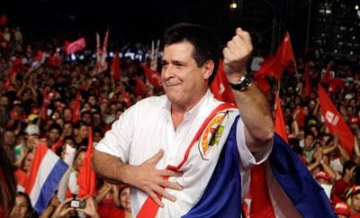 Paraguay President-elect Horacio Cartes