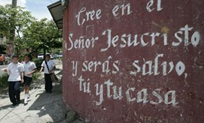 A religious message in Soyapango, El Salvador