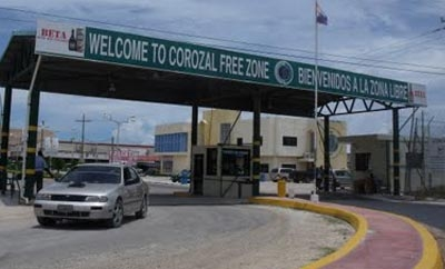 Belize free trade zone Corozal is a contraband hub